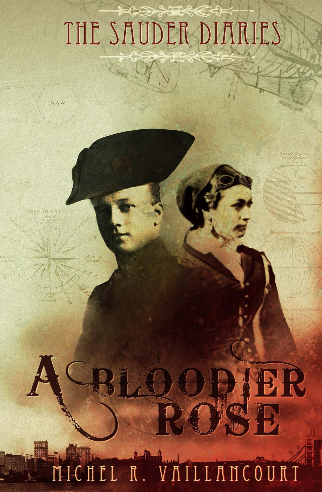 """The Sauder Diaries - """"A Bloodier Rose"""" Kindle Release Cover"""