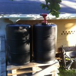 Rainwater Catchment - Rain Barrels under eaves