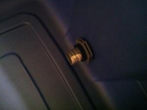 Grow Bed Bell Siphon Bulkhead Fitting - Inside Tank