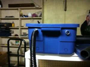 First drain hose on fish tank
