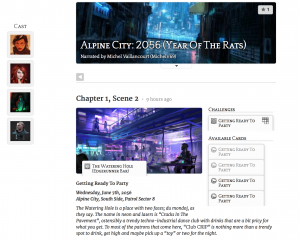 """An example of a Storium """"game"""" page."""