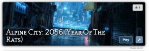 "Banner for my ""Alpine City: 2056"" Storium"