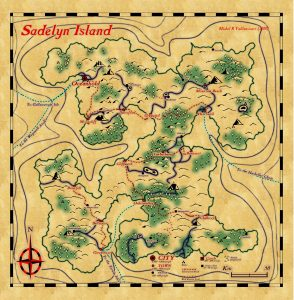 TTRPG Map Sadelyn Island from my Scattered Islands setting